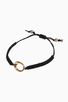 Gold Tone/Black Silhouette Pully Bracelet