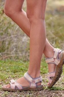 Grey/Pink Walking Trek Sandals