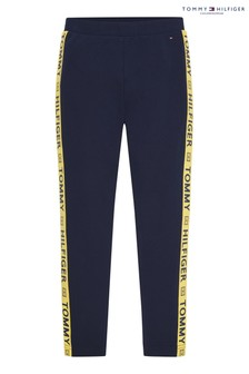 Tommy Hilfiger Blue Sustainable Tape Leggings