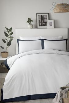 Serene Madison Easy Care Contrast Border Duvet Set by Serene