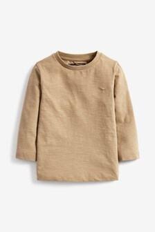 Neutral Long Sleeve Plain T-Shirt (3mths-7yrs)