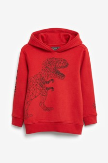 Red Dino Hoody (3-14yrs)