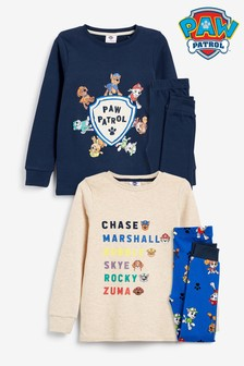 Rust/ Navy 2 Pack Paw Patrol Snuggle Pyjamas (12mths-7yrs)