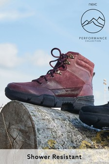 Berry Performance Water Repellent Leather Hiker Style Boots