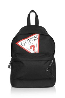 Kids Black Logo Backpack