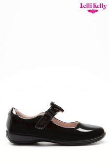 Lelli Kelly Black Patent Heart Shoes