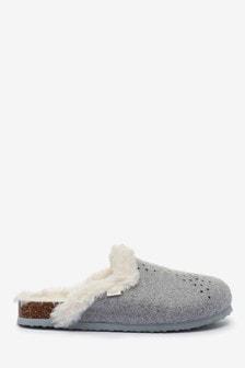 Grey Star Mule Slippers