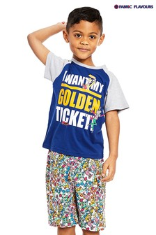 Fabric Flavours Blue Golden Ticket Pyjamas