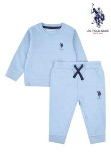 U.S. Polo Assn. Blue Player Crew Sweat Set
