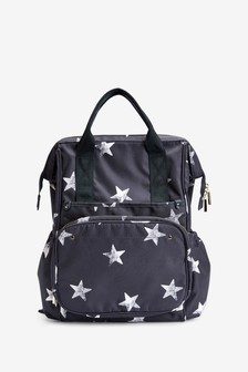 Navy Multi-Compartment Baby Bag Rucksack