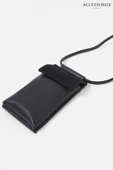 Accessorize Black Carrie Utility Phone Bag