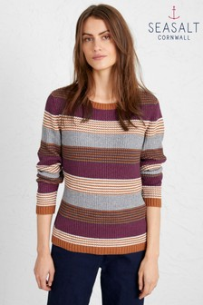 Seasalt Natural Hugh Town Jumper