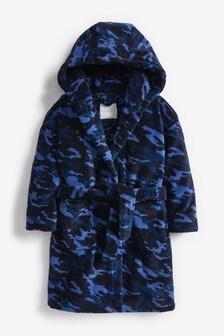 Blue Camo Fleece Robe (3-16yrs)