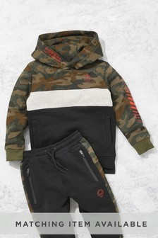 Camouflage Hoody Colourblock Print (3-16yrs)