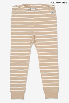 Polarn O. Pyret Natural GOTS Organic Stripe Trousers