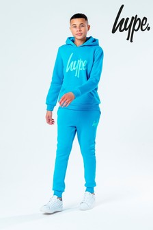 Hype. Blue Overhead Hoody and Jogger Set