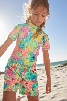 Multi Tie Dye Swim Shorts (3-16yrs)
