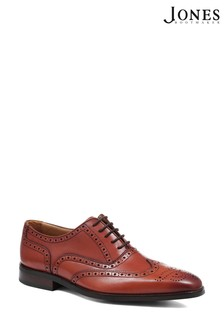 Jones Bootmaker Chestnut Leather Men's Oxford Wing-Tip Brogues
