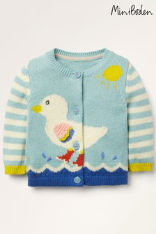 Boden Blue Fun Knitted Cardigan