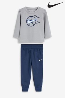 Nike Infant Grey Football Crew And Jogger Set
