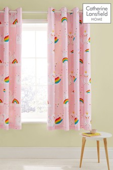 Rainbow Swan Eyelet Curtains by Catherine Lansfield