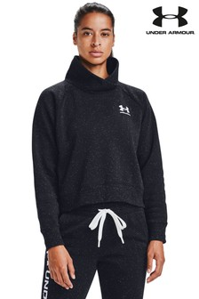 Under Armour Wrap Neck Speckle Sweat Top