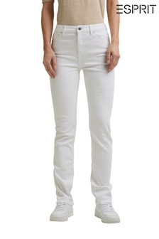 Esprit White Highrise Slim Fit Denim Jeans