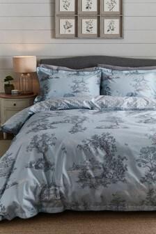 Toile Print Duvet Cover And Pillowcase Set