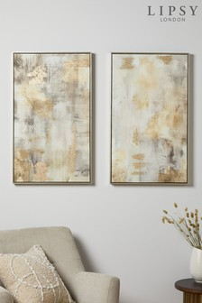 Lipsy Abstract Texture Canvas