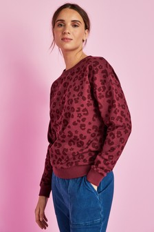 Berry Animal Printed Sweatshirt