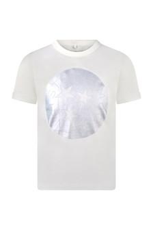 Girls Ivory Holographic Print T-Shirt