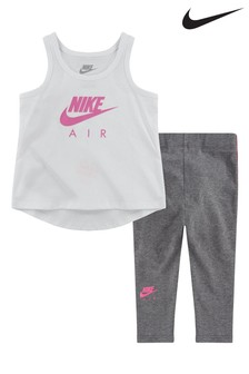 Nike Infant White Air Vest and Legging Set