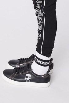 Karl Lagerfeld White Logo Socks