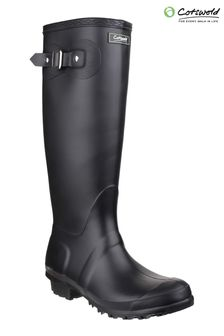 Cotswold Black Sandringham Wellingtons