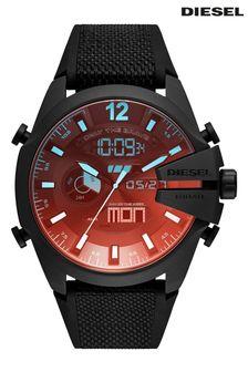 Diesel Black Ana-Digi Silicone Strap Watch