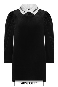 فستان أسود بياقة بشعاربناتي