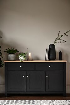 Black Malvern Large Sideboard