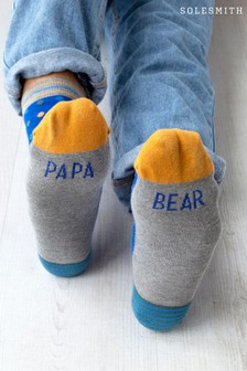 Papa Bear Patterned Slogan Socks by Solesmith