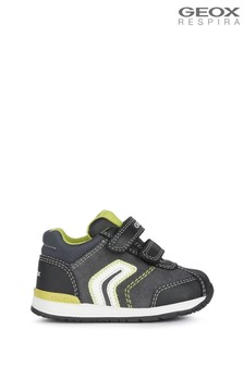 Geox Baby Boy/Unisex Rishon Dark Grey/Lime Shoes