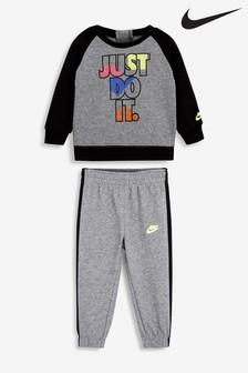 Nike Infant Grey JDI Crew And Joggers Set