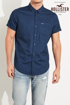 Hollister Navy Slim Shirt