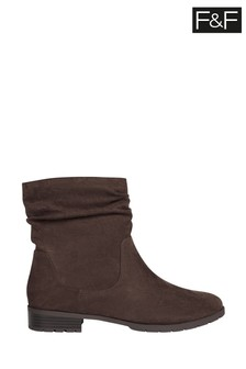 F&F Brown Slouch Boots