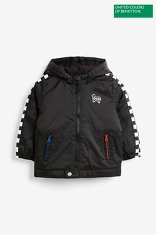 Benetton Black Padded Racer Jacket