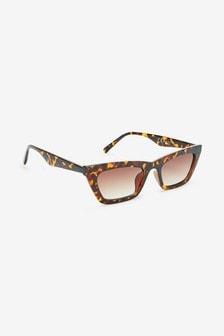 Tortoiseshell Effect Extreme Cat-Eye Sunglasses