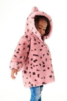 Pink Animal Faux Fur Jacket (3mths-7yrs)