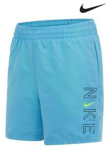 Nike Blue Logo Play Swim Shorts