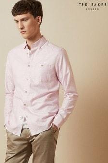 Ted Baker Tiptoe Linen Mix Shirt