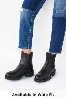 Black Forever Comfort® Chunky Chelsea Boots