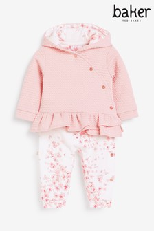 Baker By Ted Baker Baby Girl Quilted Romper