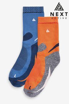 Orange/Blue Running Ankle Socks 2 Pack